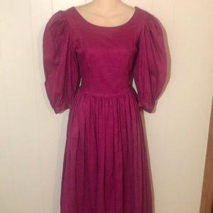 Vintage Laura Ashley England Surplice Dress S/M